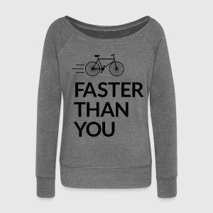 Faster than you Hoodies & Sweatshirts - Women's Boat Neck Long Sleeve Top