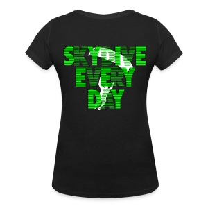 Skydive every day - T-shirt col V Femme