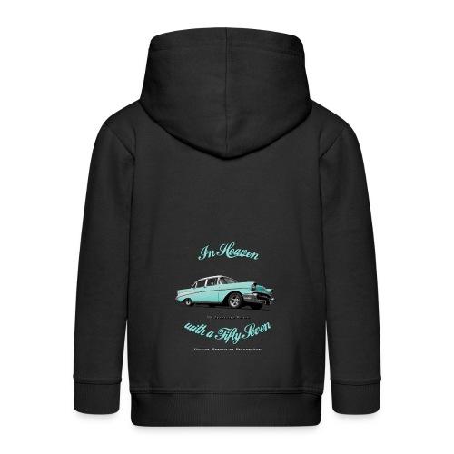 Kids zip Hoodie  | 57 Chevy Belair | Classic American Automotive - Kids' Premium Zip Hoodie