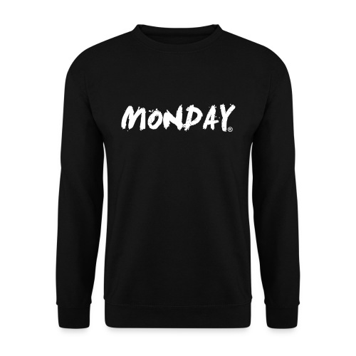 Monday - Pullover | Painted MONDAY white - Männer Pullover