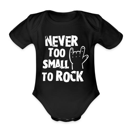 rock on baby - Organic Short-sleeved Baby Bodysuit