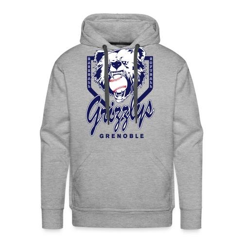 SWEAT CAPUCHE DOP GRIZZLYS Grey - Sweat-shirt à capuche Premium pour hommes