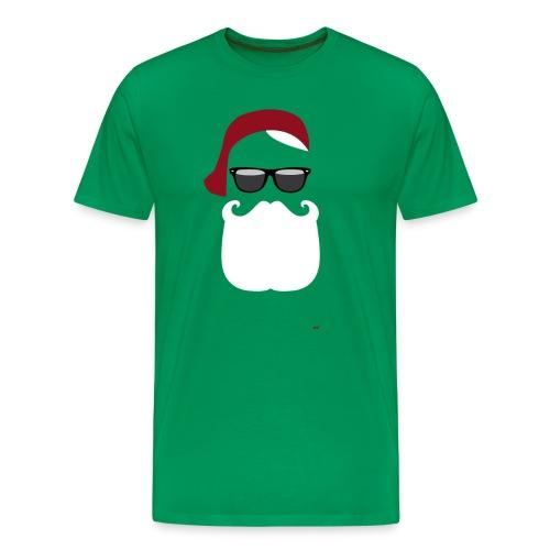 Hipster Claus - X-Mas Mens Shirt - Männer Premium T-Shirt
