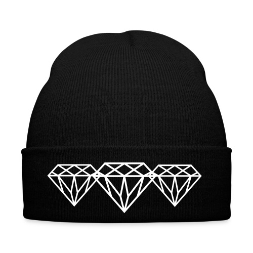DIAMANTENZAUBER BEANIE BLACK - Wintermütze