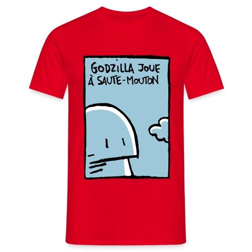 Godzilla joue à saute-mouton - Men's T-Shirt
