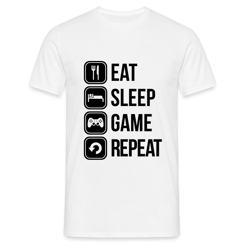 T-Shirt Homme eat, sleep, game, repeat - T-shirt Homme