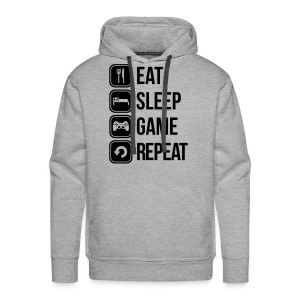 Sweatshirt Homme eat, sleep, game, repeat - Sweat-shirt à capuche Premium pour hommes