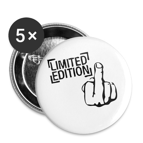 Button i fuck of serien vår 56mm 2 1/4 (5 pack) - Stor pin 56 mm