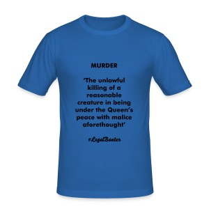 MURDER DEFINITION - Men's Slim Fit T-Shirt