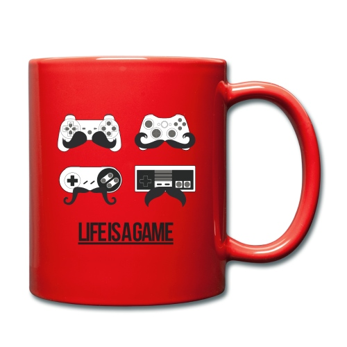 Mug rouge Life is a game - Tasse en couleur