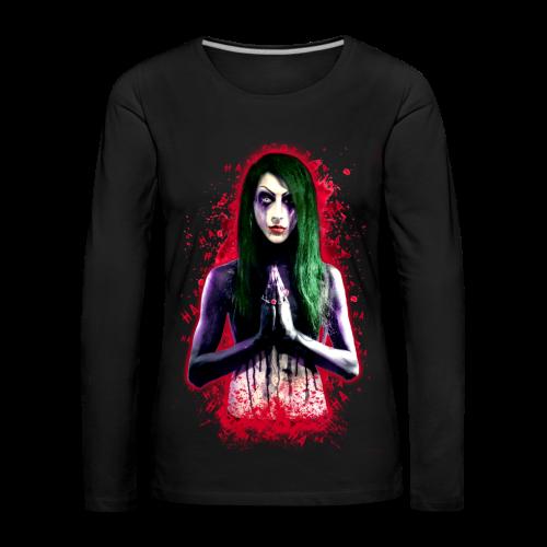 Laughing in blood-winter - Women's Premium Longsleeve Shirt