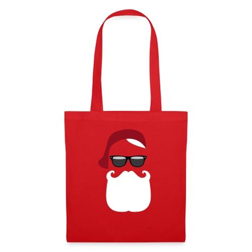 Hipster Claus - X-Mas Hipster Tasche - Stoffbeutel