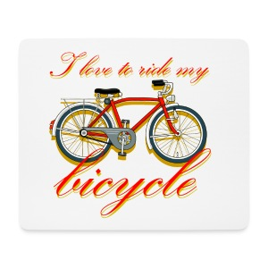 I love to ride my bicycle - Mouse Pad (horizontal)