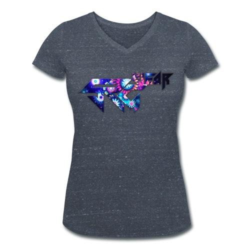 T-Shirt Col V Femme Flower Collection - T-shirt bio col V Stanley & Stella Femme