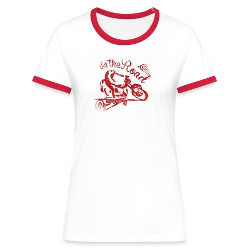 moto - Maglietta Contrast da donna