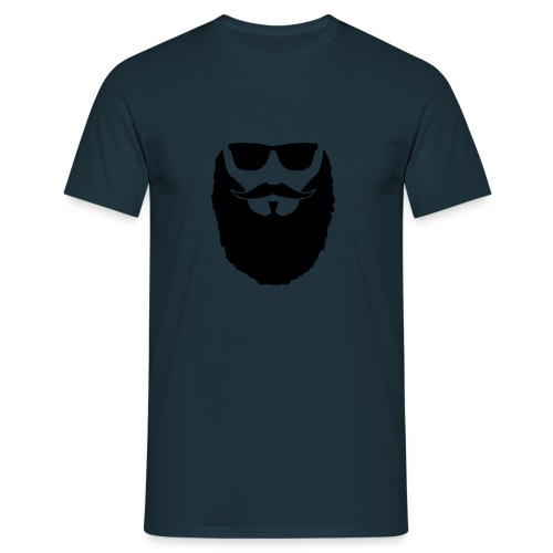 Hipster beard glasses - T-shirt Homme