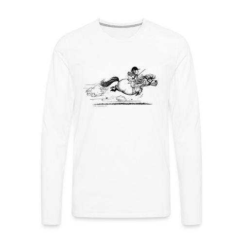 Running Horse Black - Männer Premium Langarmshirt