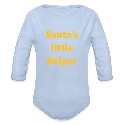 LONG SLEEVE SANTA'S LIL HELPER BABY GROW - Organic Longsleeve Baby Bodysuit