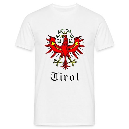 T-Shirt Tirol mit Adler HERREN weiss - Männer T-Shirt