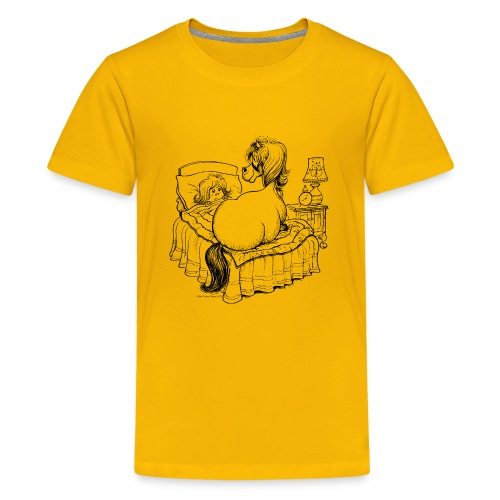 PonyBed Thelwell Cartoon - Teenage Premium T-Shirt