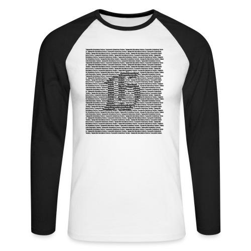 Gutenberg Typografie Langarmshirt - Männer Baseballshirt langarm
