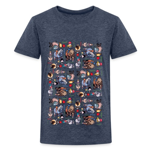 PonyCartoons Thelwell Cartoon - Teenage Premium T-Shirt