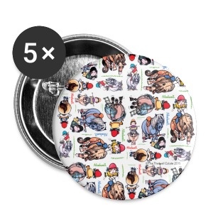 PonyCartoons Thelwell Cartoon - Buttons large 56 mm