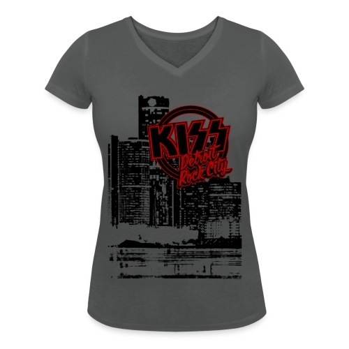 Detroit Rock City - Women's Organic V-Neck T-Shirt by Stanley & Stella