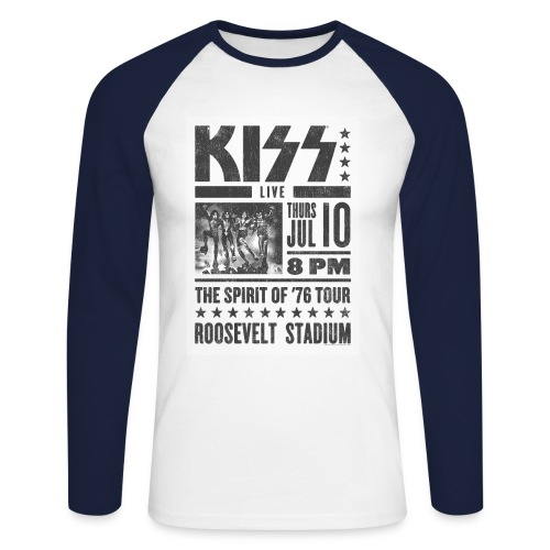 LIVE at the Roosevelt Stadium - Men's Long Sleeve Baseball T-Shirt