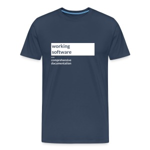 Agile Manifesto: Working Software - Men's Premium T-Shirt
