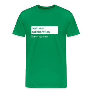 Agile Manifesto: Customer collaboration - Men's Premium T-Shirt