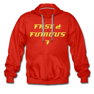 Hoodies & Sweatshirts ~ Men's Premium Hooded Jacket ~  Sweat a capuche rouge FAST & FURIOUS 7, swagg unique