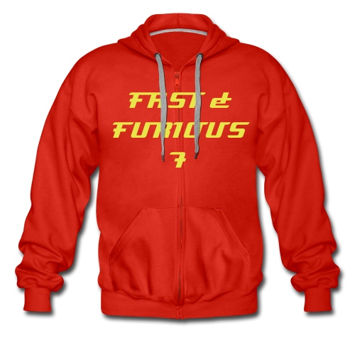 Sweat a capuche rouge FAST & FURIOUS 7, swagg unique - Men's Premium Hooded Jacket