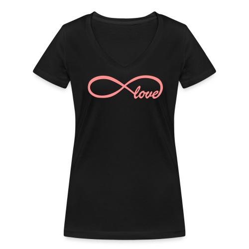 Infinity Love - Vrouwen bio T-shirt met V-hals van Stanley & Stella