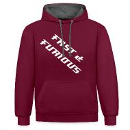 Hoodies & Sweatshirts ~ Contrast Colour Hoodie ~  Sweat a capuche FAST & FURIOUS