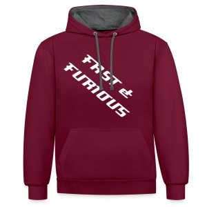 Sweat a capuche FAST & FURIOUS  - Contrast Colour Hoodie