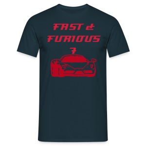 T shirt FAST & FURIOUS 7 et ferarri - Men's T-Shirt