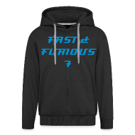 Hoodies & Sweatshirts ~ Men's Premium Hooded Jacket ~  Sweat a capuche FAST & FURIOUS 7