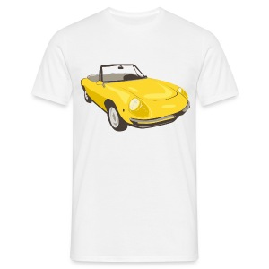 Yellow Alfa Romeo Spider illustration - T-skjorte for menn