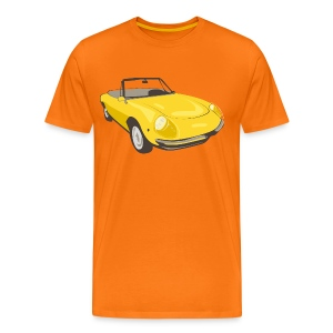 Yellow Alfa Romeo Spider illustration - Premium T-skjorte for menn