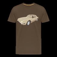 T-skjorter ~ Premium T-skjorte for menn ~ Gold Studebaker Avanti illustration