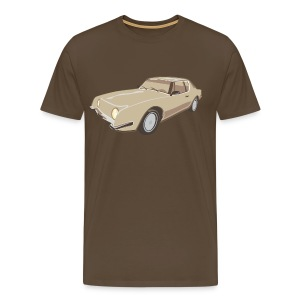 Gold Studebaker Avanti illustration - Men's Premium T-Shirt