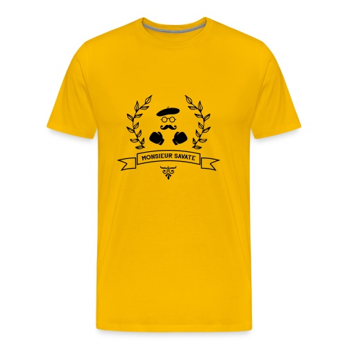 T-SHIRT YELLOW HOMME - T-shirt Premium Homme