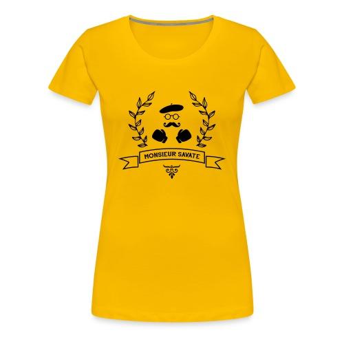 T-SHIRT YELLOW FEMME - T-shirt Premium Femme
