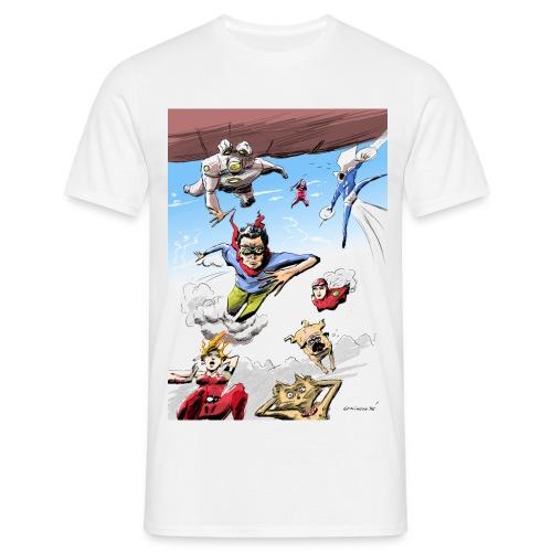 super-héros déjantés - T-shirt Homme