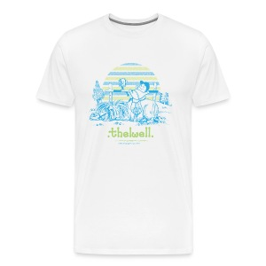 Männer Premium T-Shirt - Lustiger Thelwell Cartoon aus der offiziellen Kollektion 'The Thelwell Estate 2015'