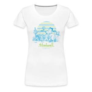 Frauen Premium T-Shirt - Lustiger Thelwell Cartoon aus der offiziellen Kollektion 'The Thelwell Estate 2015'