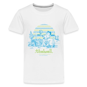 Teenager Premium T-Shirt - Lustiger Thelwell Cartoon aus der offiziellen Kollektion 'The Thelwell Estate 2015'