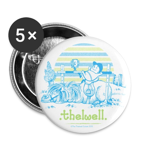 PonyVictory Thelwell Cartoon - Buttons large 2.2''/56 mm(5-pack)