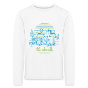 Kinder Premium Langarmshirt - Lustiger Thelwell Cartoon aus der offiziellen Kollektion 'The Thelwell Estate 2015'